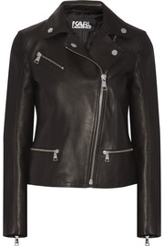 Ikonik Odina leather biker jacket