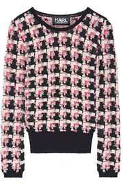 Karl Lagerfeld Stretch-bouclé sweater