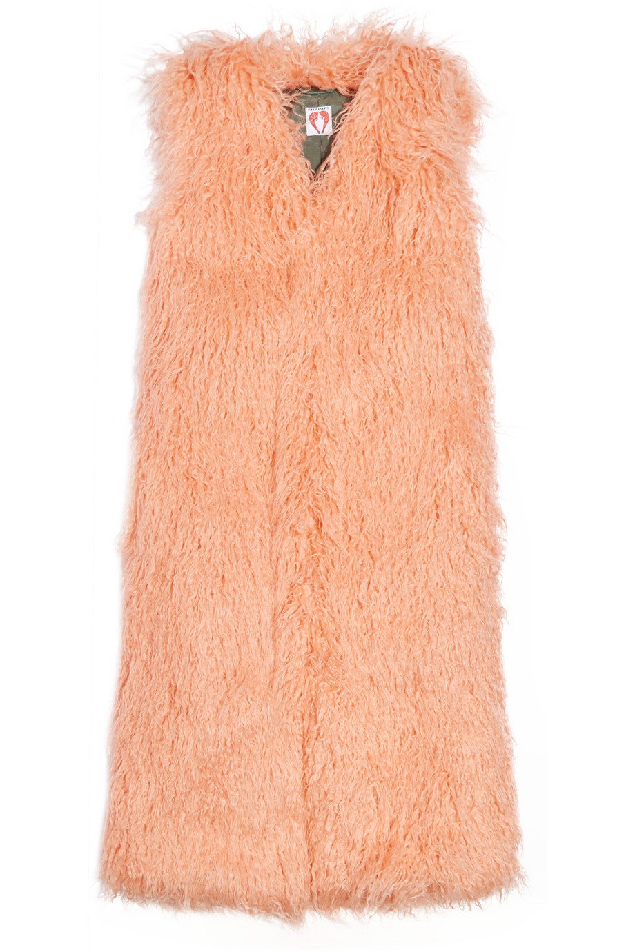 Shrimps Darcy Faux Shearling Vest, Peach, Women's, Size: M