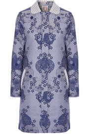 Shrimps Daphne embellished cotton-blend jacquard coat