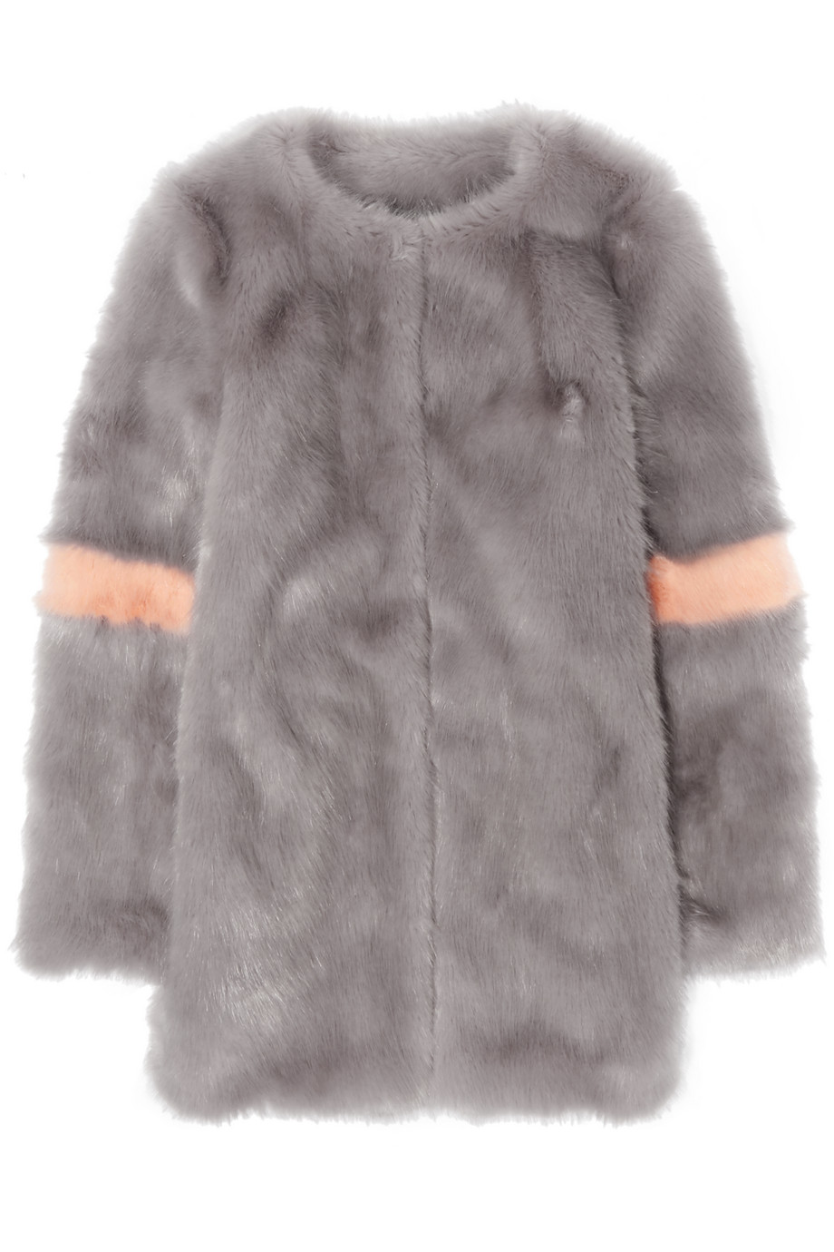 Shrimps Ariel Faux Fur Coat, Gray, Women's, Size: XS