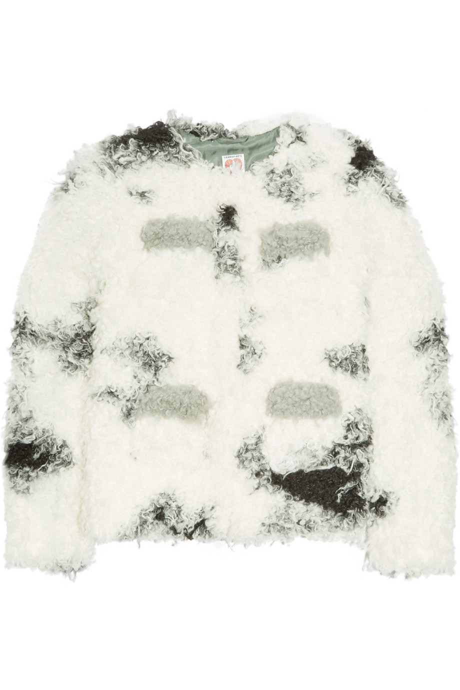 Shrimps Cindy Faux Shearling Jacket, White, Women's