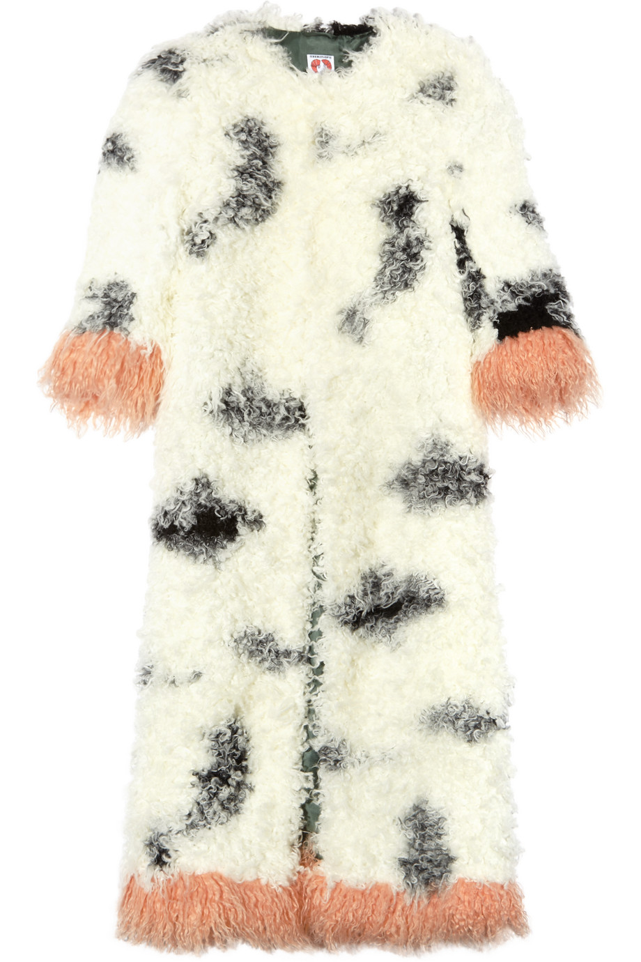 Shrimps Audrey Faux Shearling Coat, White, Women's