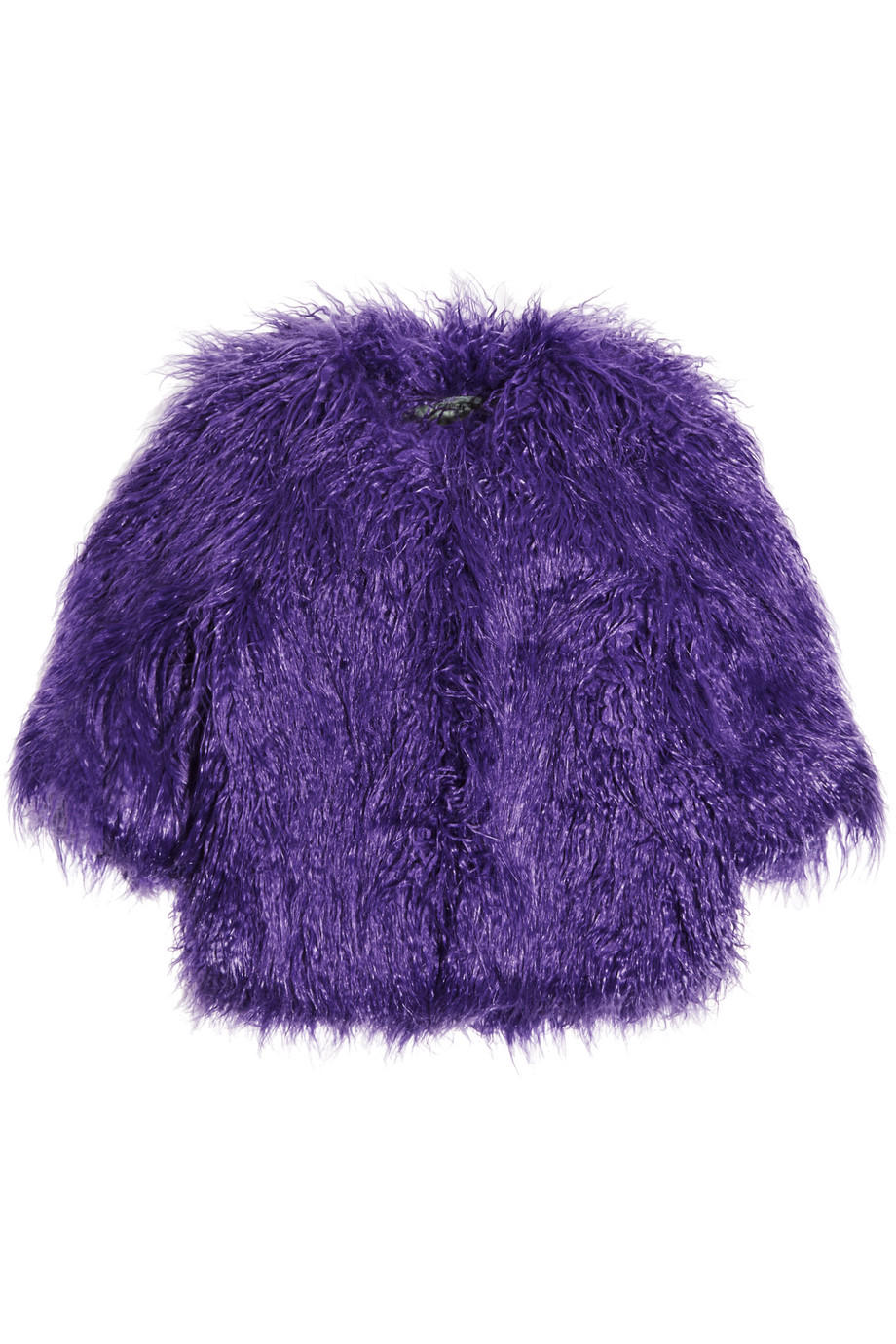 Shrimps Lily Cropped Faux Shearling Jacket, Purple, Women's