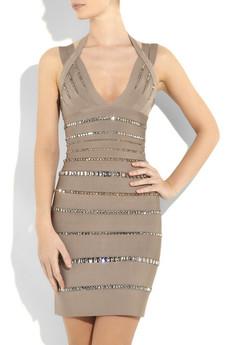 Hervé LégerCrystal-embellished bandage dress