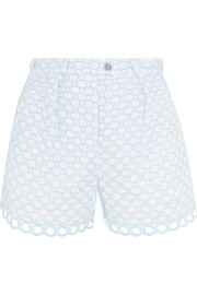 Carven Broderie anglaise cotton shorts