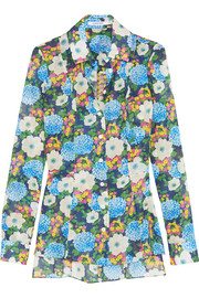 Floral-print cotton-voile shirt