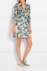 Carven Floral-print cotton-voile mini skirt