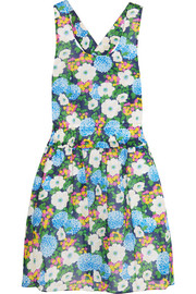 Floral-print cotton-voile mini dress