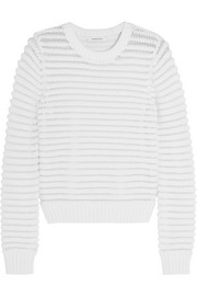 Carven Chenille-knit cotton-blend sweater