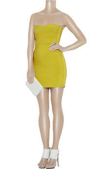 Hervé Léger Reversible strapless bandage dress