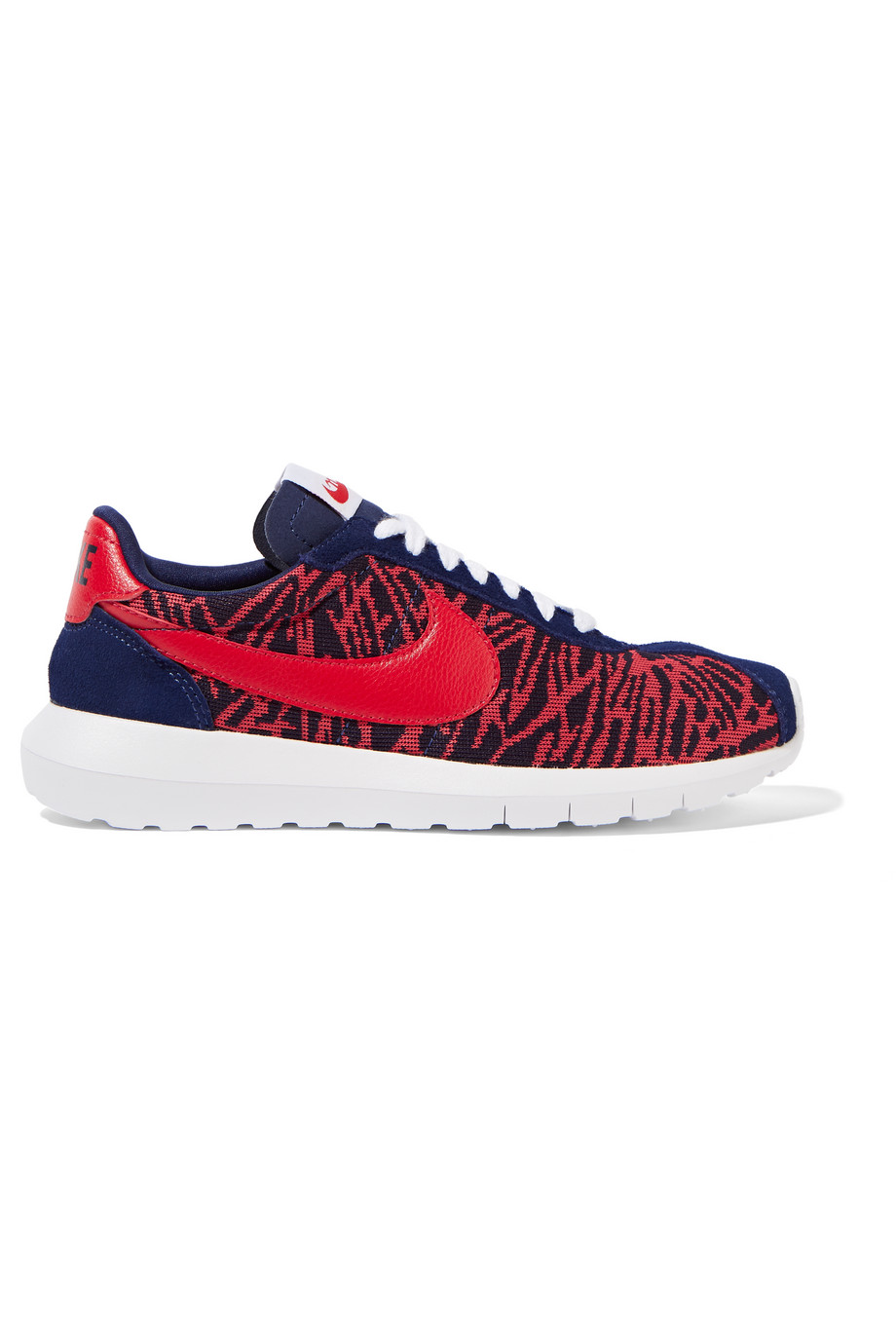 Nike Roshe LD-1000 Jacquard, Suede and Leather Sneakers, Red/Navy, Women's, Size: 9