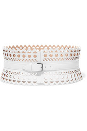 Alaïa Vienne laser-cut leather waist belt