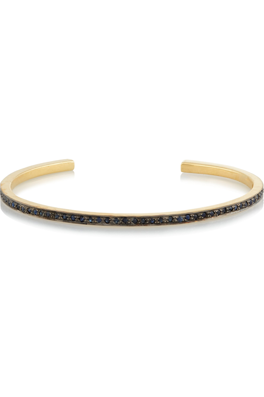 EYE M by Ileana Makri Thread gold-plated sapphire cuff