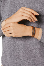 Thread gold-plated diamond cuff