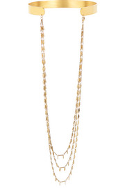 Ziggy gold-plated necklace