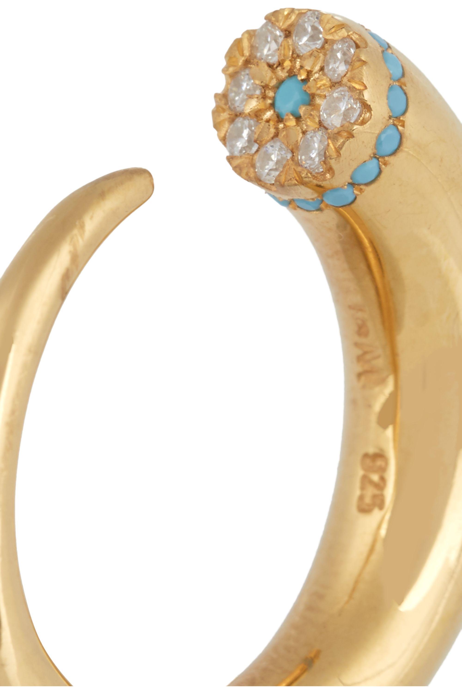 EYE M by Ileana Makri Thorn Eye gold-plated cubic zirconia ring