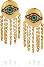 Dawn Chain gold-plated cubic zirconia earrings