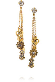 Erickson Beamon Ringtone gold-plated Swavorski crystal earrings