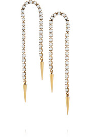 Grapes of Wrath gold-plated faux pearl earrings