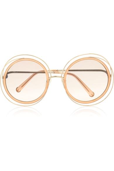 Carlina mini round-frame sunglasses Chloé xLTUc