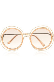 Carlina round-frame gold-tone sunglasses