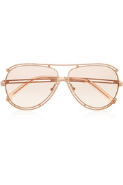 Isidora aviator-style metal sunglasses