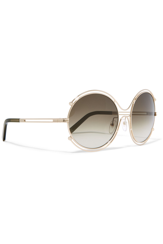 Chloé Isidora round-frame gold-tone and acetate sunglasses