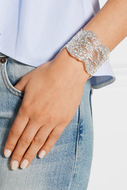Lace silver-plated cuff
