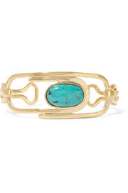 Angelica gold-plated turquoise cuff