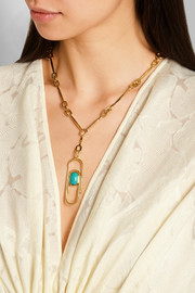 Angelica gold-plated turquoise necklace