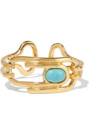 Angelica gold-plated turquoise ring