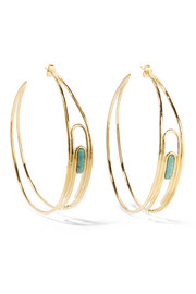 Aurélie Bidermann Angelica gold-plated turquoise hoop earrings