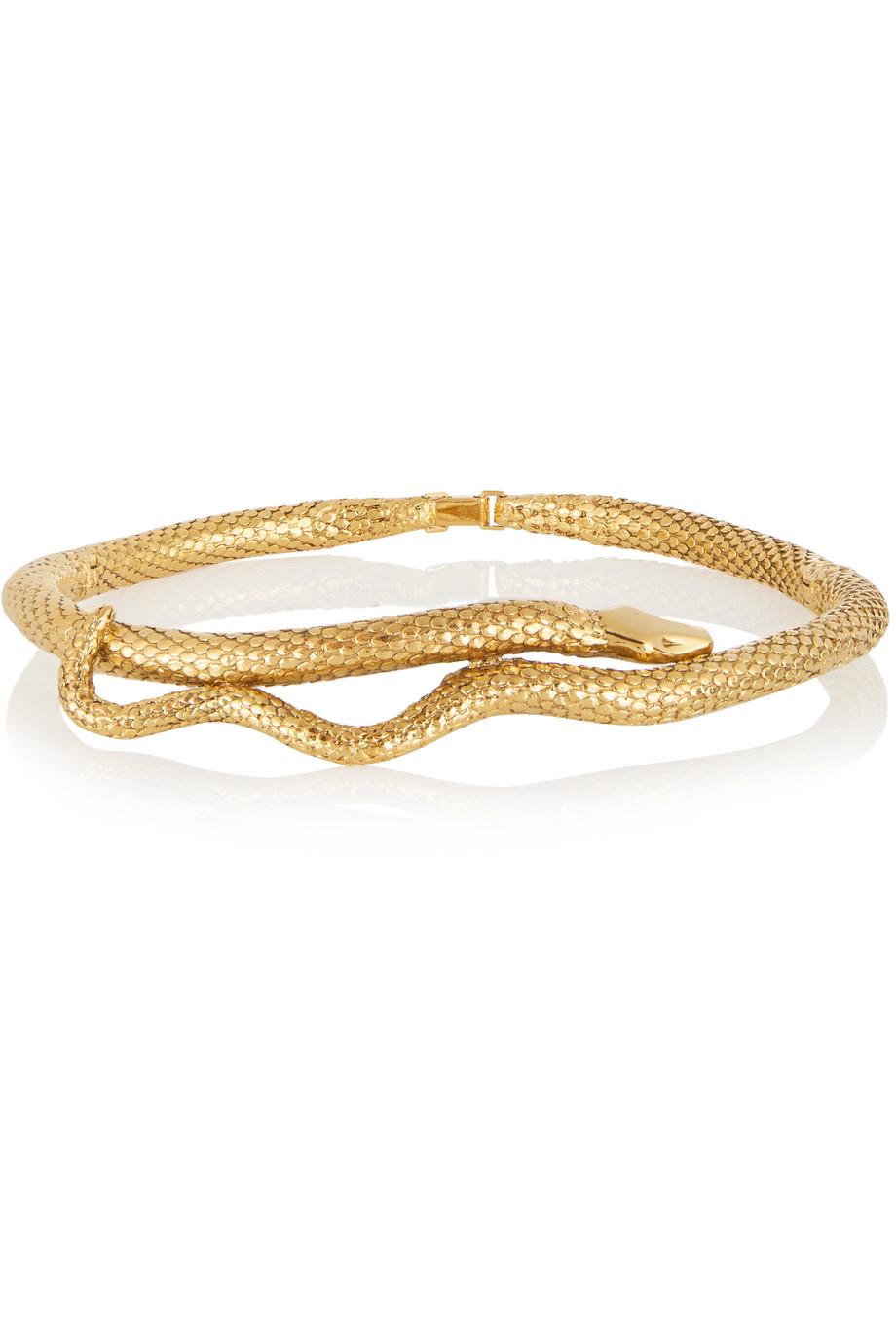 Snake Gold-Plated Choker, Aurélie Bidermann, Women's