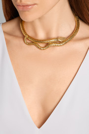 Snake gold-plated choker