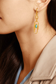 Aurélie Bidermann Angelica gold-plated resin earrings