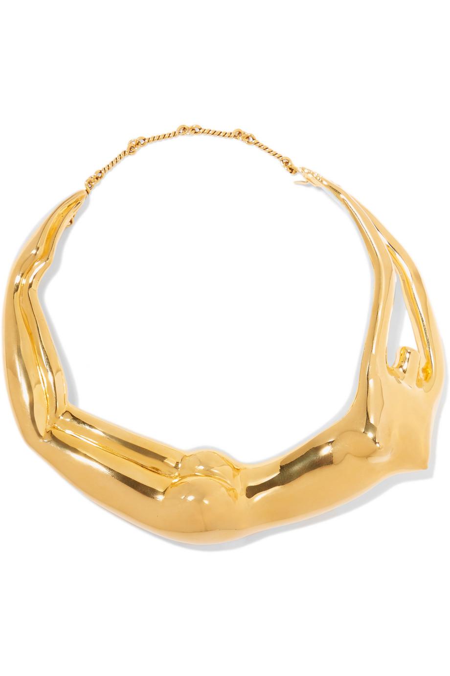 Body Gold-Plated Necklace, Aurélie Bidermann, Women's