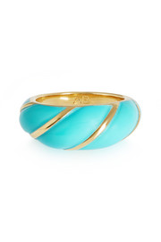 Aurélie Bidermann Diana gold-plated resin ring