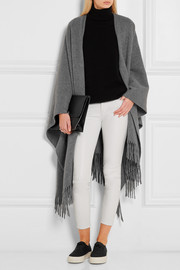 Fringed wool wrap