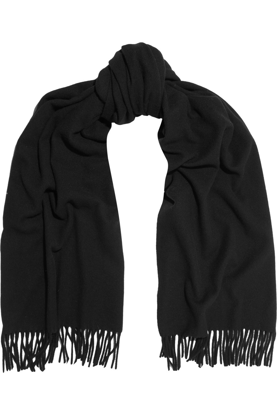 Acne Studios Canada Wool Scarf, Black, Women's, Size: One Size