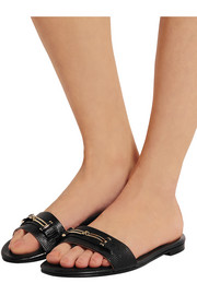 Roma lizard-effect leather sandals