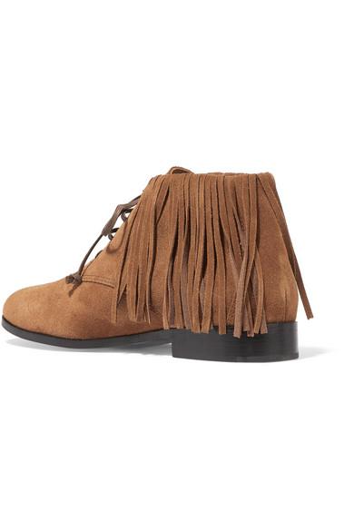 newbark jamie ankle boots aus veloursleder mit fransen. Black Bedroom Furniture Sets. Home Design Ideas