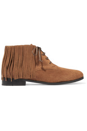 Jamie fringed suede ankle boots