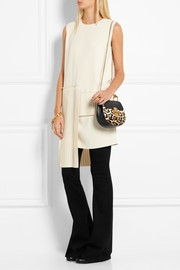 Chloé Drew mini leather and leopard-print calf hair shoulder bag