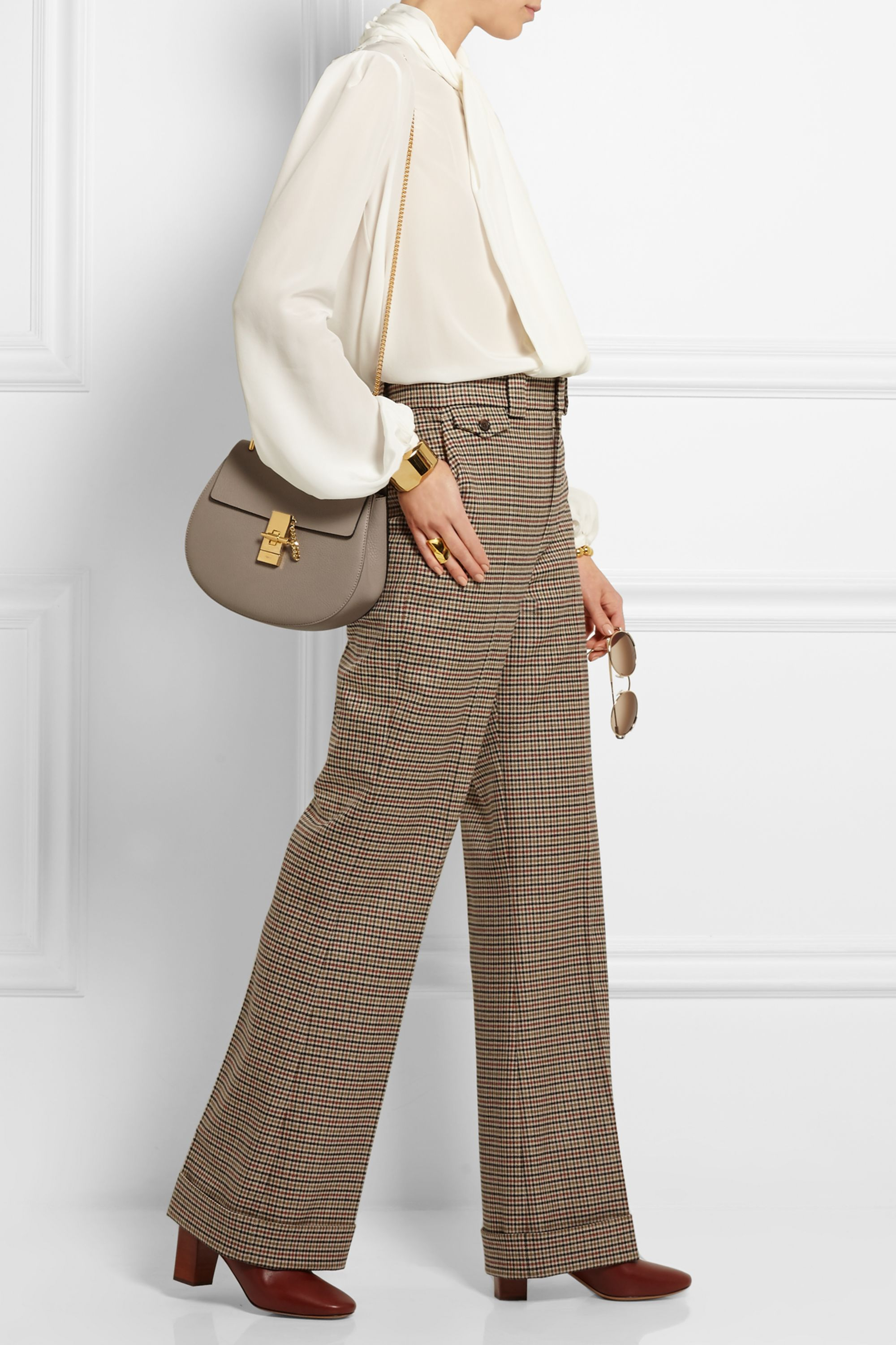 Chloé Drew small textured-leather shoulder bag