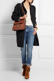 Faye medium croc-effect leather shoulder bag