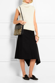 Chloé Faye medium leopard-print calf hair and leather shoulder bag