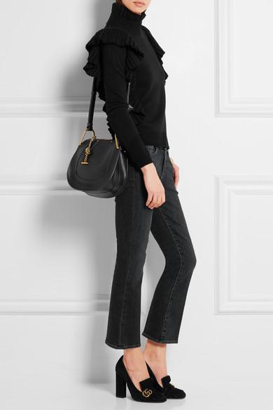 see by chloe wallets - chloe hayley small suede leather hobo bag, chloe handbags sale online