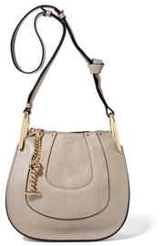 Chloé Hayley mini textured-leather and suede shoulder bag
