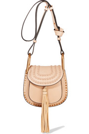 Hudson mini whipstitched leather shoulder bag